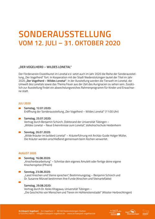 Sonderausstellung 2020 Pressetext-Cover
